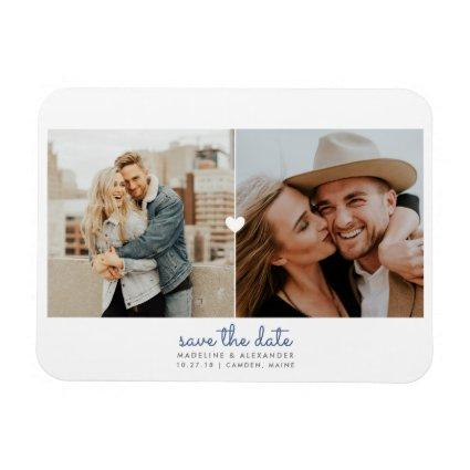 Simple Heart Save the Date Magnets