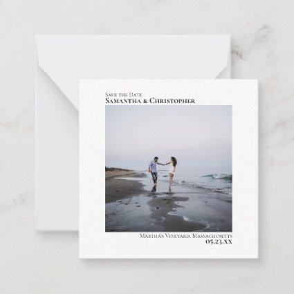 Simple Minimal Artsy Wedding Save the Date Mini Note Card