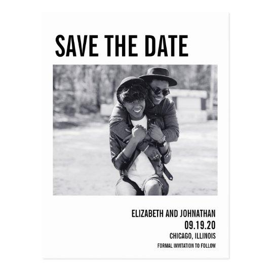 Simple & Minimal Typography Save The Date Cards