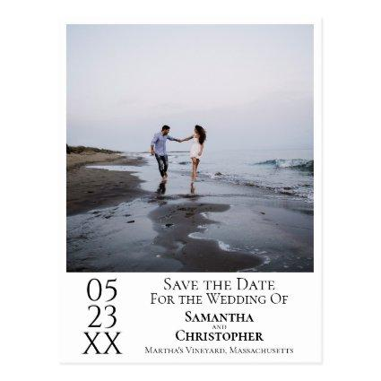 Simple Minimal Wedding Save the Date Photo