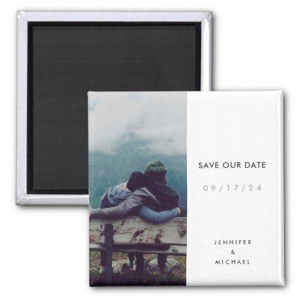Simple Minimalist Save the Date magnet