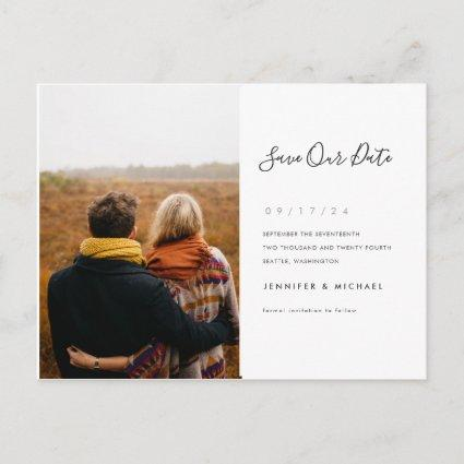 Simple Minimalist Save the Date Photo