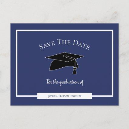 Simple Modern Graduation Save The Date Announcement