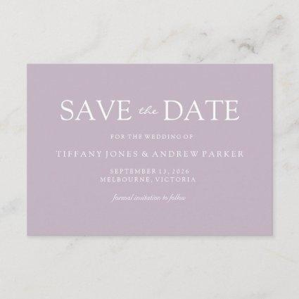 Simple Modern Muddy Blush Wedding Save the date