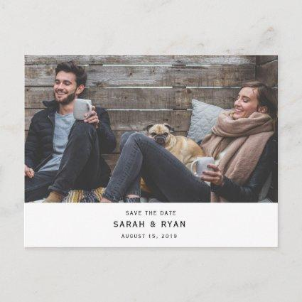 Simple Modern Photo Horizontal Save the Date Announcement