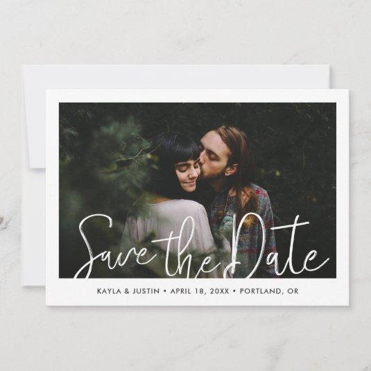 Simple Modern Photo Wedding Save the Date Card