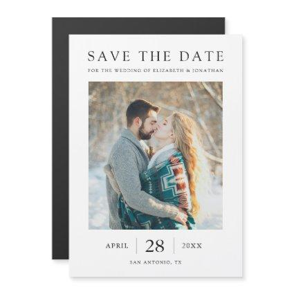 Simple Modern Save the Date Magnet Card with Photo