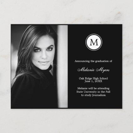 Simple Monogram EDITABLE COLOR Graduation