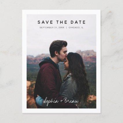 Simple Photo Design White Border Save the date Announcement