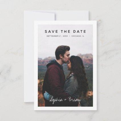 Simple Photo Design with White Border Save The Date