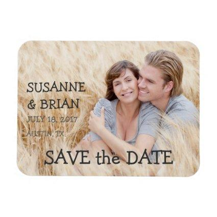 SIMPLE PHOTO SAVE THE DATE | COUNTRY MAGNET