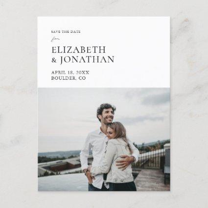 Simple Photo Stylish Modern Save the Date Invite