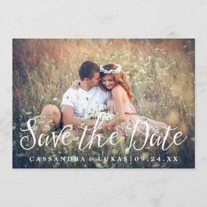 Simple Romance Photo Save the Date Card