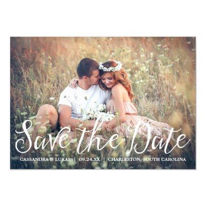 Simple Romance Save the Date Magnetic Invitation