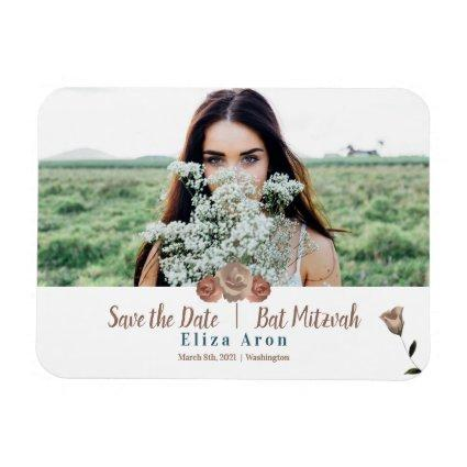 Simple Roses Save the Date Magnet