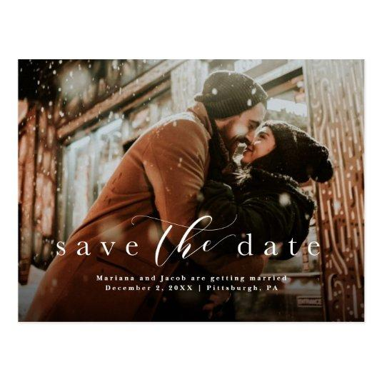 Simple save the date photo Cards