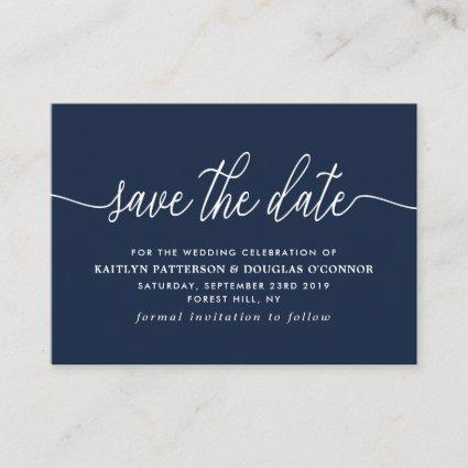 Simple Script Save The Date Enclosure Card