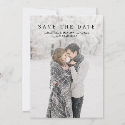 Simple Serif | Elegant Classic Text and Photo Save The Date