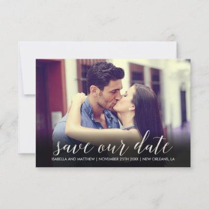 Simple Sparkly White Marble Save Our Date Image Save The Date