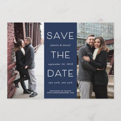 Simple Statement | Two Photo Save the Date