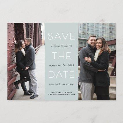 Simple Statement   Two Photo Save the Date