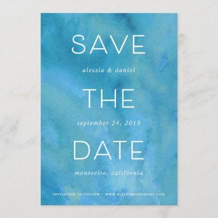 Simple Statement | Watercolor Save the Date Card
