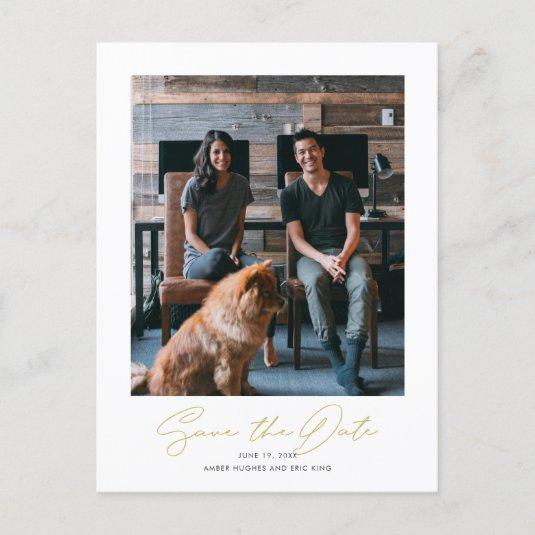 Simple Stylish Modern Photo Wedding Save the Date Announcement
