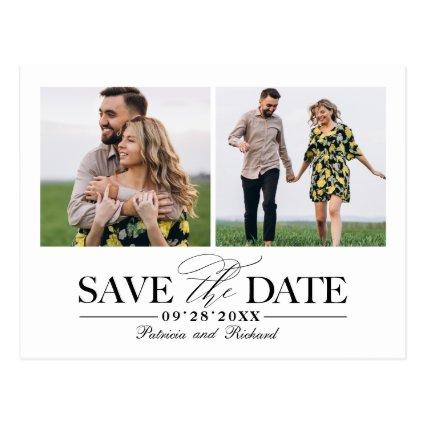 Simple Stylish Wedding Save The  Date 2 Photo