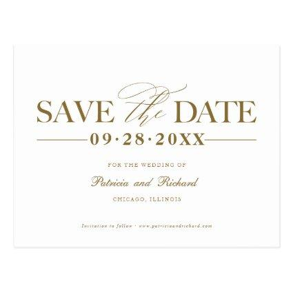 Simple Stylish Wedding Save The  Date Non Photo