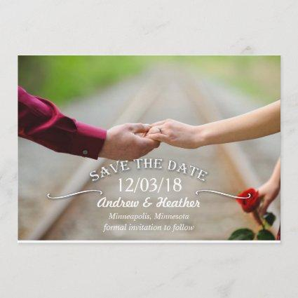 Simple Swirl Wedding Save the Date
