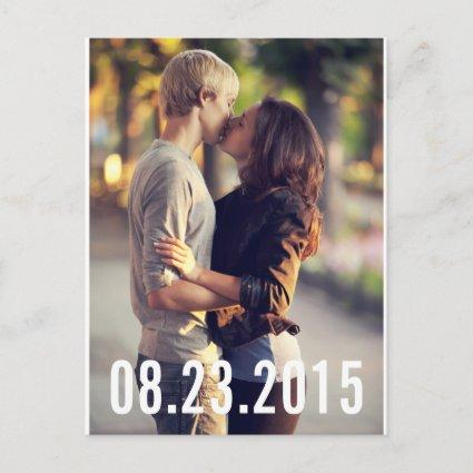 SIMPLE TYPOGRAPHY VERTICAL SAVE THE DATE Cards