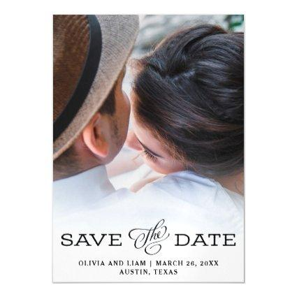 Simple Vintage Look | Photo Save The Date Magnetic Invitation