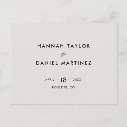 Simple Wedding Save the Date Announcement