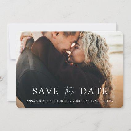 Simply Chic Modern Photo Wedding Save The Date
