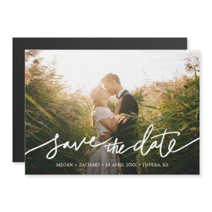 Simply Chic Photo Custom Wedding Save the Date Magnetic Invitation