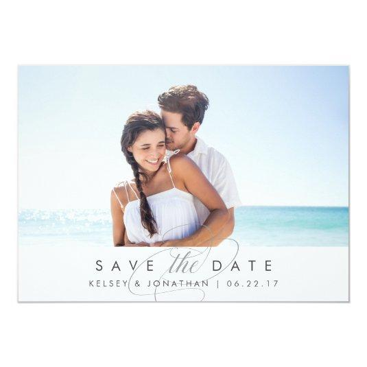 Simply Elegant | Horizontal Photo Save the Date Card