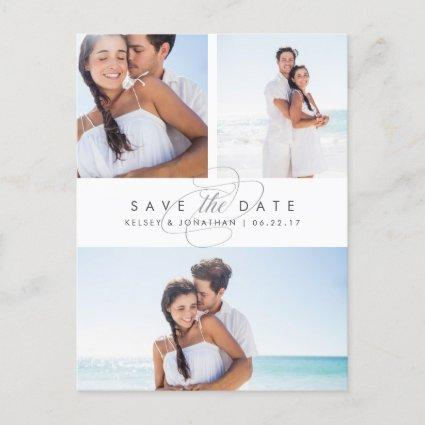 Simply Elegant Multi Photo Save the Date Announcement
