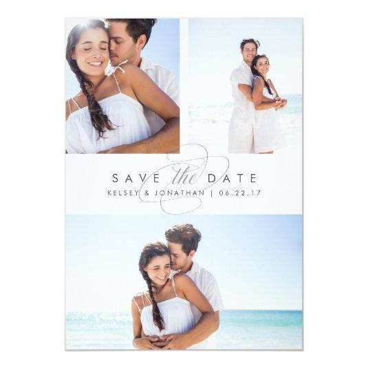 Simply Elegant Multi Photo Save the Date Card