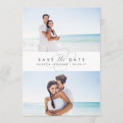 Simply Elegant Two Photo Save the Date
