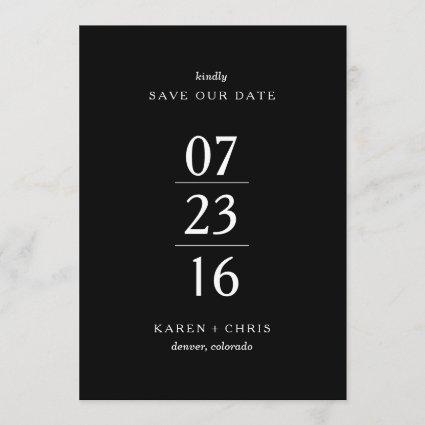 Simply Modern Save the Date