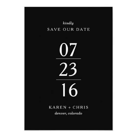 Simply Modern Save the Date 5x7 Paper Invitation Card