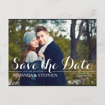 Simply Modern Wedding Save the Date Photo Cards