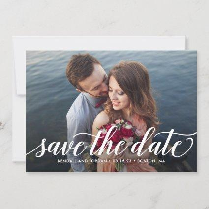 Simply Romantic Editable Color Save The Date Card