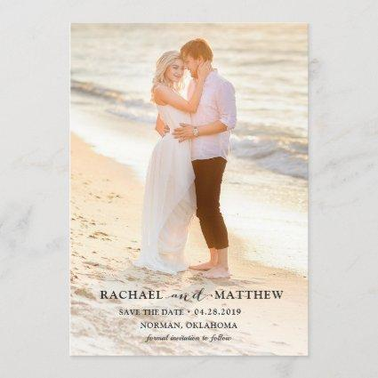 Simply Stylish Gray Wedding Save The Date Photo