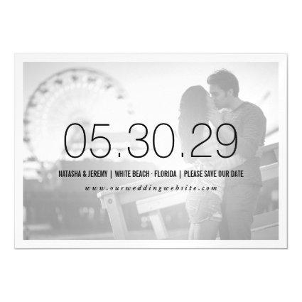 Simply Timeless Save The Date Magnets Card