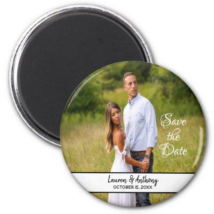 Single Photo Wedding Save The Date Magnet