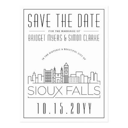 Sioux Falls Wedding Stylized Skyline