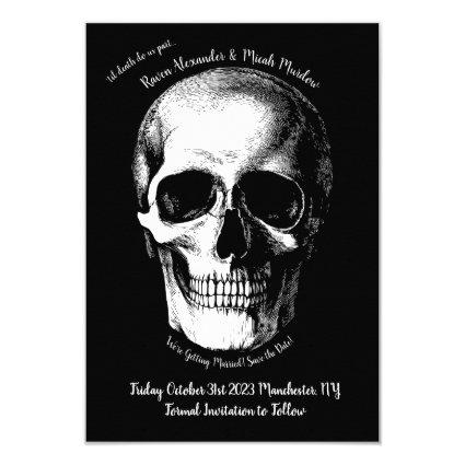Skull Gothic Wedding Save the Date Invitation