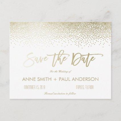 Small Confetti Save the Date Announcements Cards
