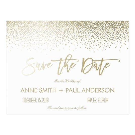 Small Confetti Save the Date Cards